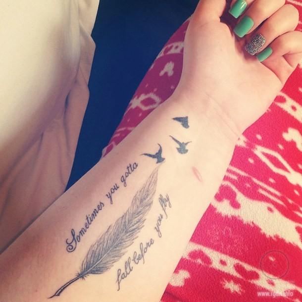 татуировка с птицами