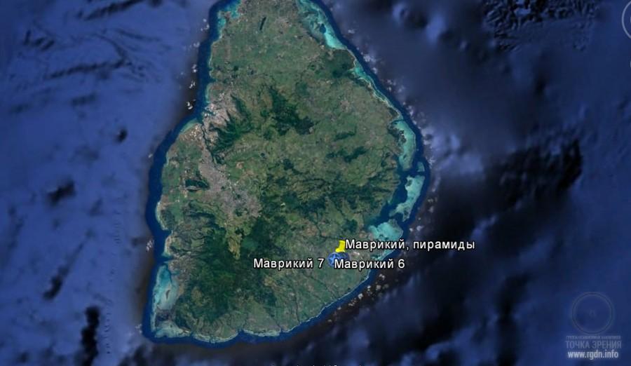 остров Маврикий, пирамиды, карта