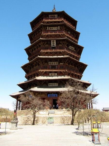 Пагода Шакьямуни в храме Фогонг