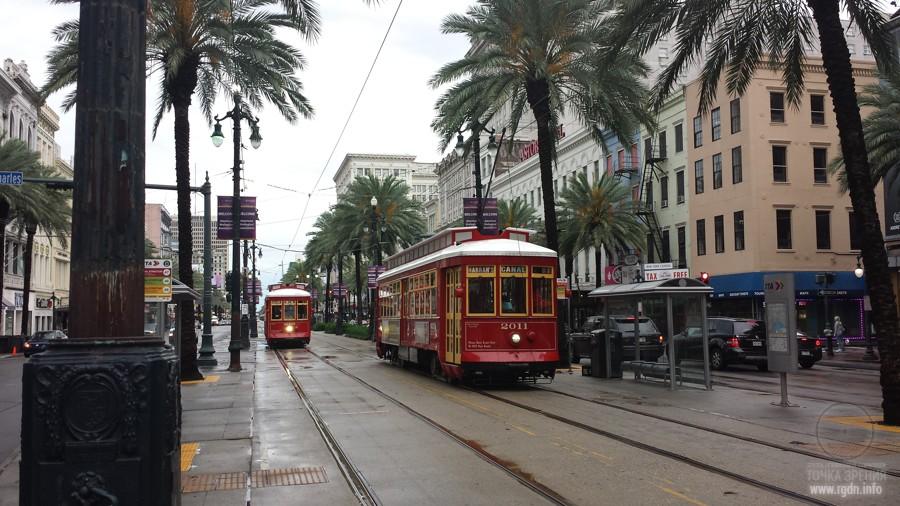 Новый Орлеан, трамваи, фото