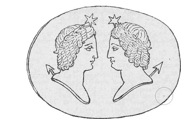 Кастор и Поллукс. С античной камеи.