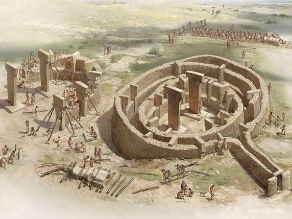 Т-образная колонна в каменоломне. Гёбекли-Тепе, художественная реконструкция