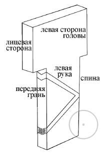 Схема человекоподобного столба Гёбекли-Тепе