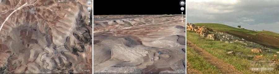 Гебекли Тепе, вид сверху, с космоса