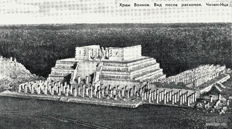 храм воинов, Чичен-Ица, мексиканские пирамиды майя