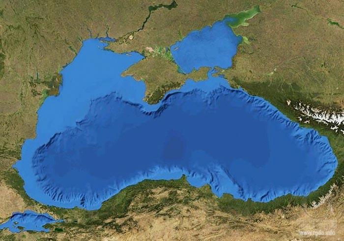 Чёрное море, вид из космоса