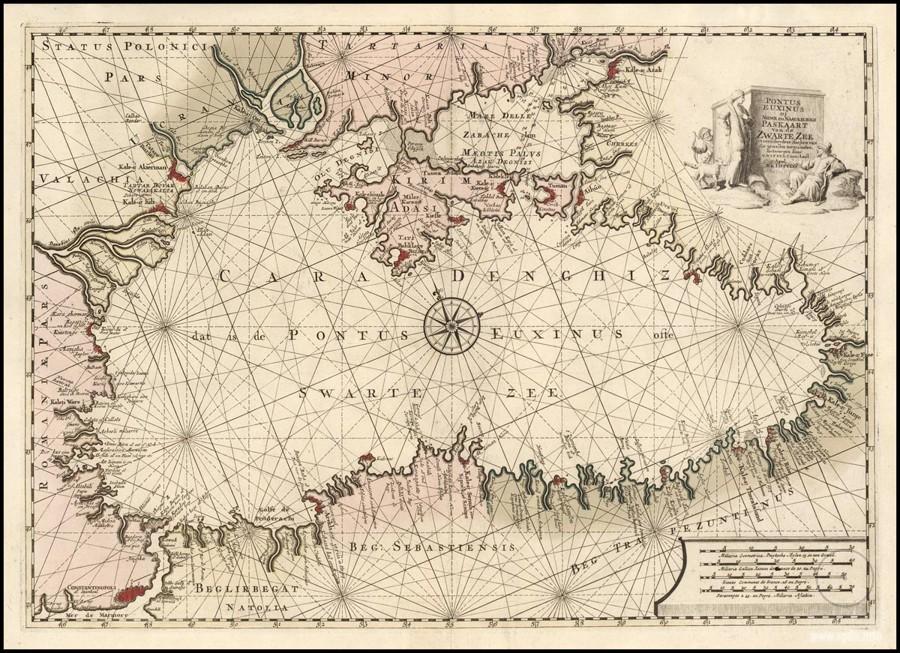 Чёрное море на старых картах