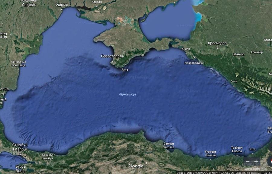 Чёрное море карта Гугл