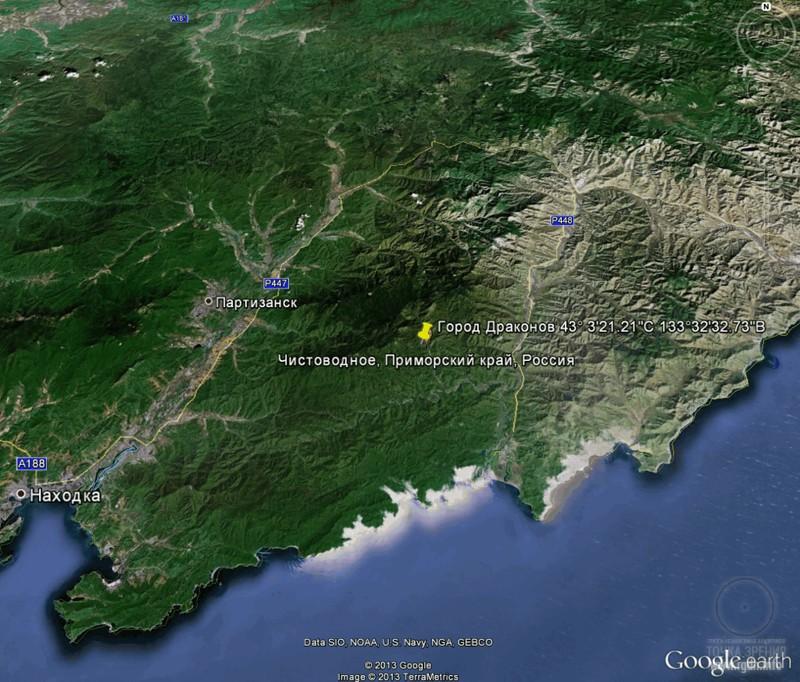 Город Драконов (Парк Драконов), Приморский край, карта