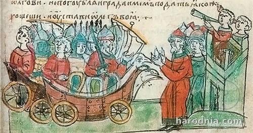 Иллюстрация из Радзивилловской летописи.