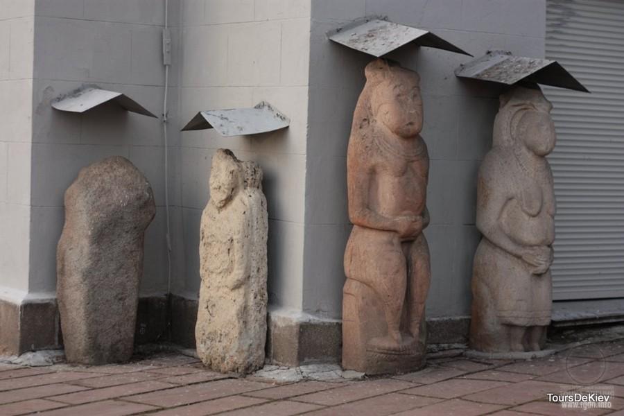 половецкая каменная баба в Киеве