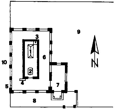 План мавзолея Роза-бал