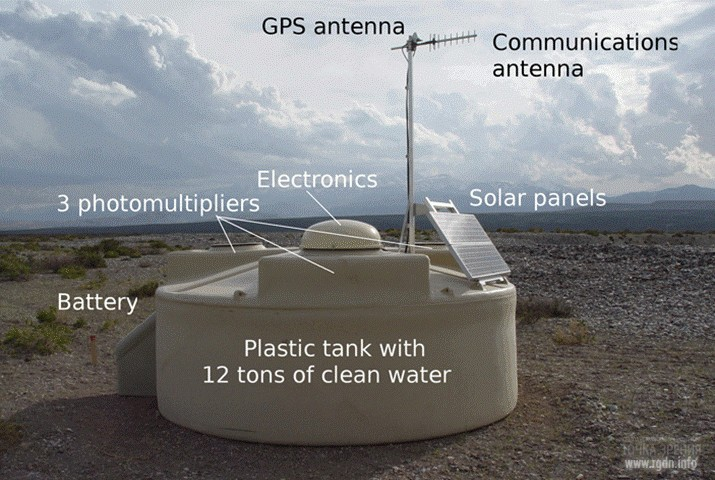 Один из поверхностных детекторов обсерватории им. Пьера Оже
