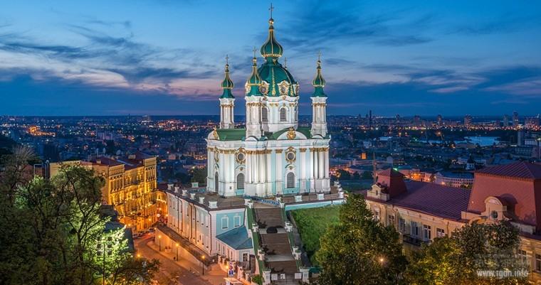 Андреевская церковь. Киев. Украина