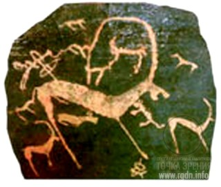 петроглифы и писаницы, Малоарбатская писаница, Республика Хакасия