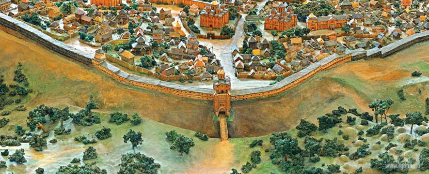 reconstruction of ancient Kiev, views of the Golden Gate
