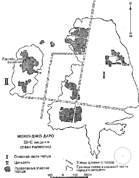 схема города Мохенджо-Даро