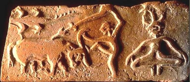 Изображение, символизирующее победу над Животным началом, (Хараппская цивилизация; III–II тыс. до н. э.; долина Инда, Южная Азия).