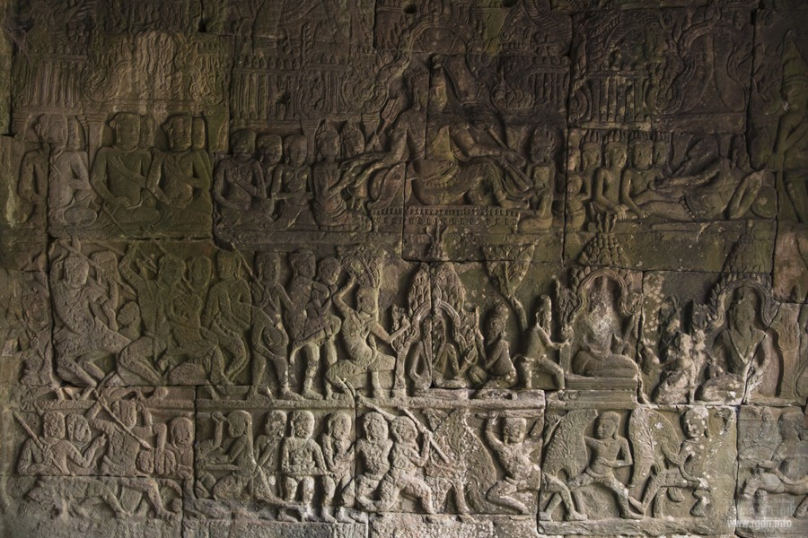Angkor Wat, a temple, the walls, frescoes, murals, photo, Cambodia,