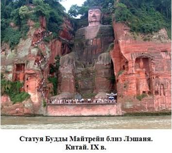 статуя будды майтрейи, лэшаня, китай
